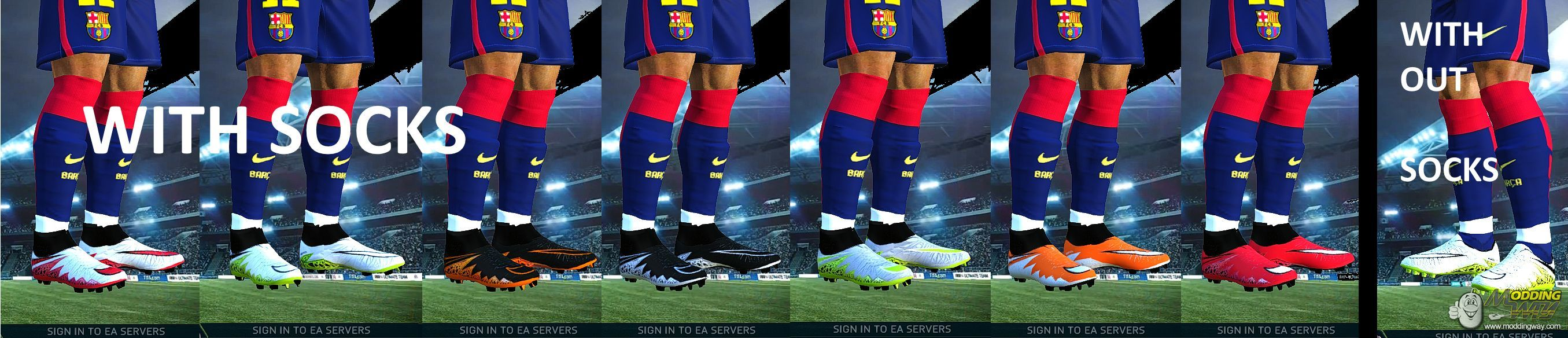 de511f16e17 ... fifa 14 62148 9e931  cheap nike hypervenom 2 pack with and without  socks 14 boots on request by abdou roun