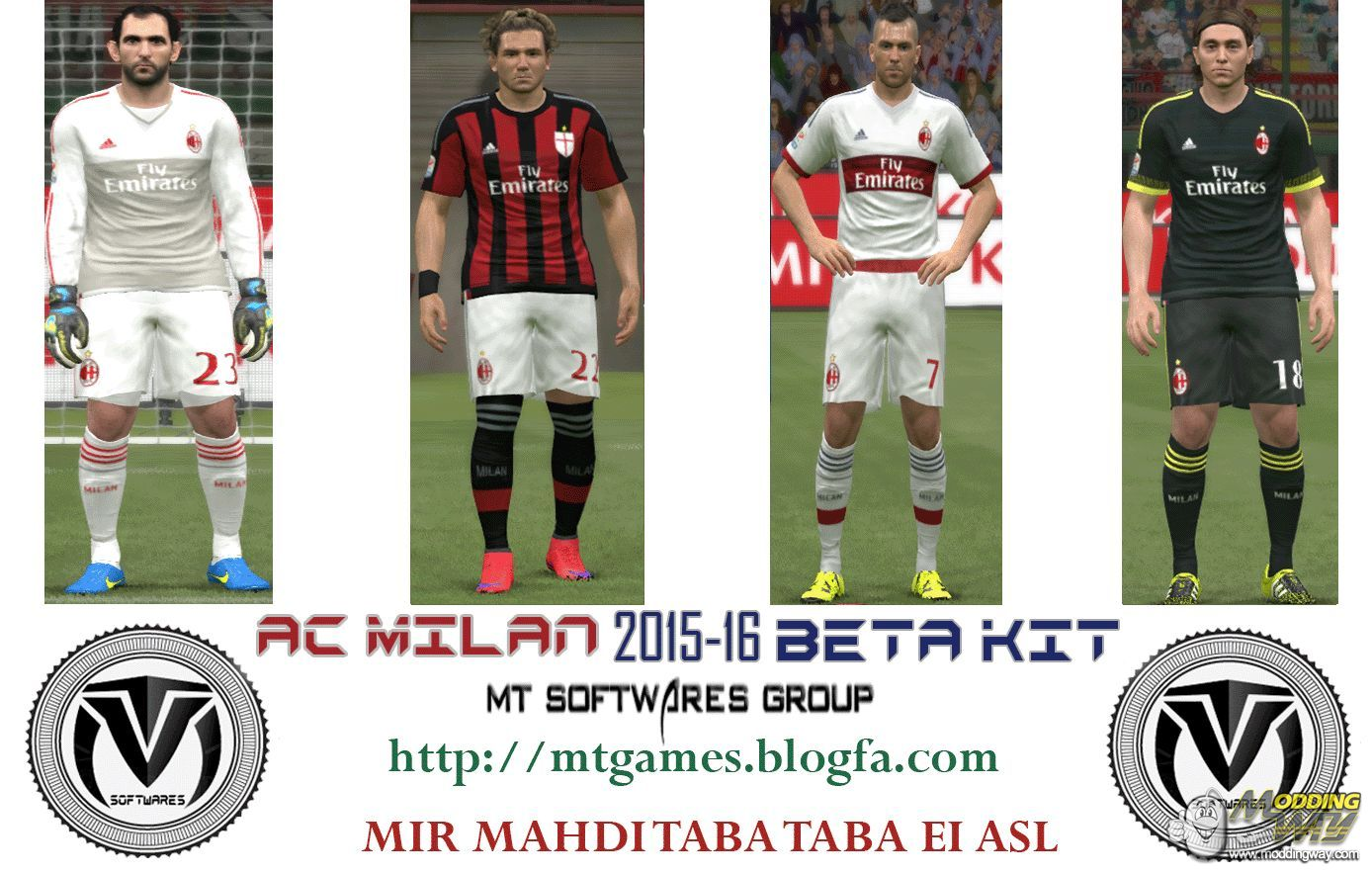 check out 45b0c 5b4be AC Milan 2015-16 Kit by MT Games - Pro Evolution Soccer 2015 ...