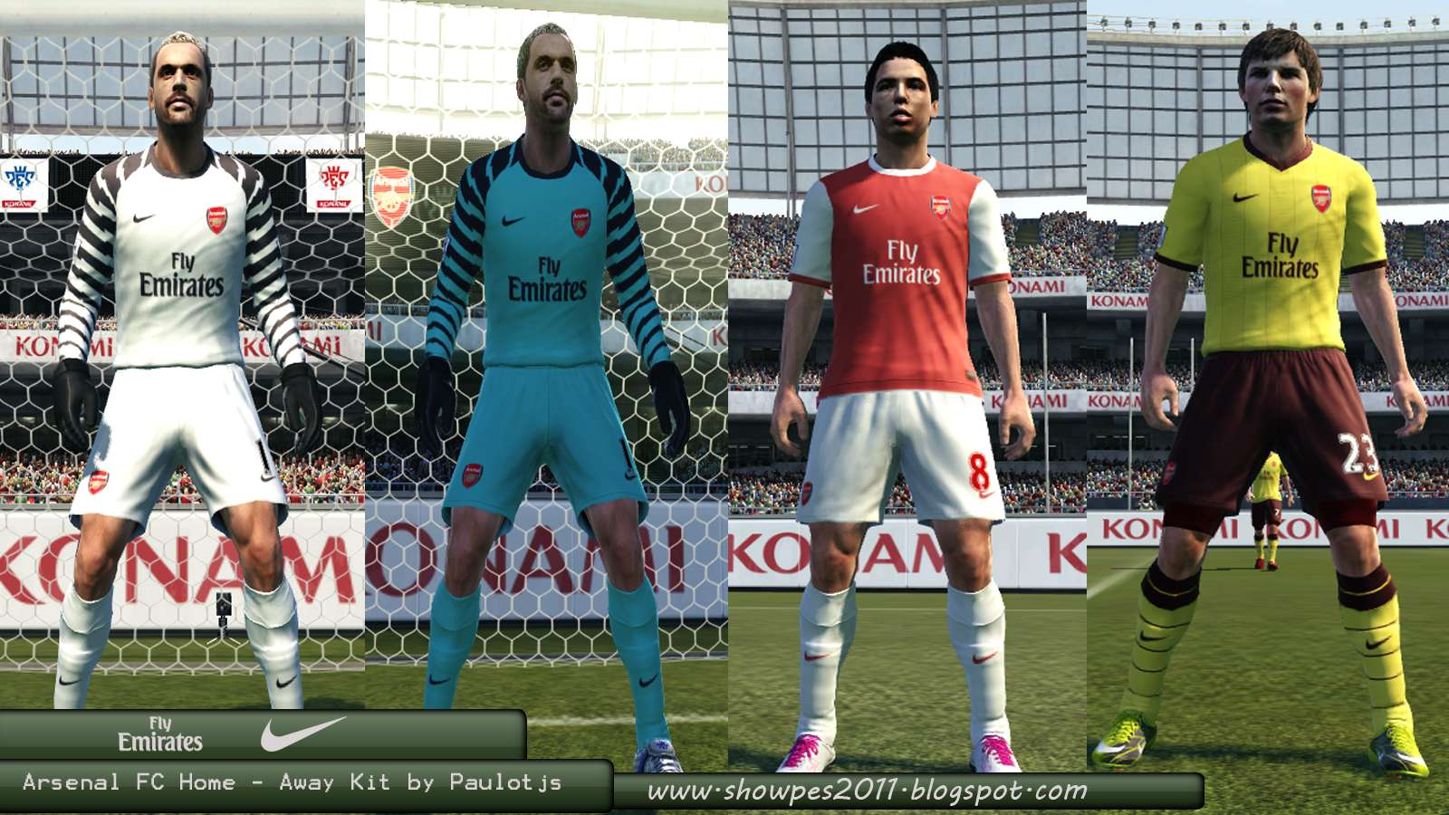 af4a7e633 Arsenal Home-Away 10 11 by Paulotjs - Pro Evolution Soccer 2011 at  ModdingWay