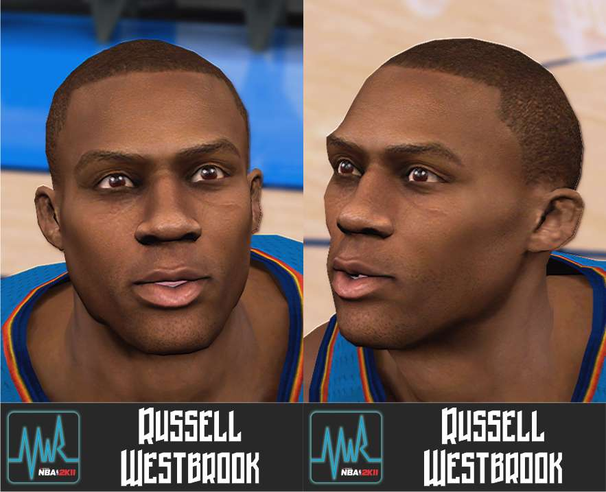85f5421f359a Russell Westbrook Cyber Face - NBA 2K11 at ModdingWay